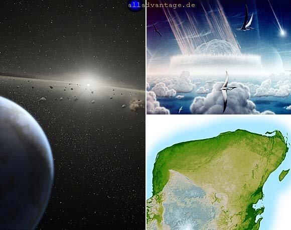 Asteroide und Kometen beim Einschlag / Impakt auf der Erde