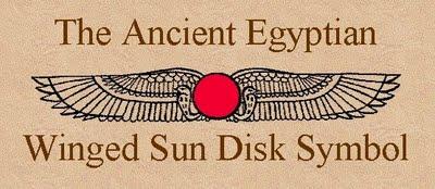 Geflügelte Sonne im alten Ägypten